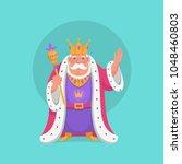 vector king in cartoon style. | Shutterstock .eps vector #1048460803