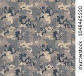 pixel dusty camo seamless... | Shutterstock .eps vector #1048465330
