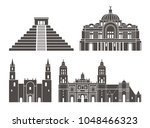 mexico set. isolated mexico... | Shutterstock .eps vector #1048466323