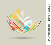 design background with abstract ... | Shutterstock .eps vector #1048466614