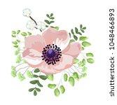 wedding watercolor light pink... | Shutterstock .eps vector #1048466893