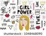 girl power vector illustration ... | Shutterstock .eps vector #1048468090