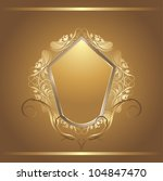 shining golden shield in... | Shutterstock .eps vector #104847470