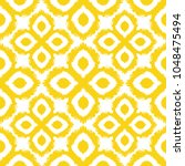 seamless ikat pattern in yellow ... | Shutterstock .eps vector #1048475494
