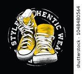 sneakers illustration for t... | Shutterstock .eps vector #1048480564