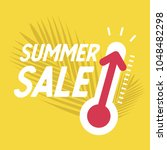 summer sale with thermometer ... | Shutterstock .eps vector #1048482298