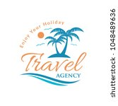 travel summer holiday logo icon ... | Shutterstock .eps vector #1048489636