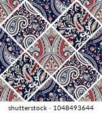 patchwork pattern on  | Shutterstock .eps vector #1048493644