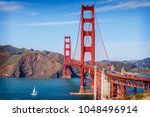 the golden gate bridge  san... | Shutterstock . vector #1048496914