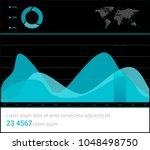 infographic dashboard template... | Shutterstock .eps vector #1048498750