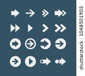 arrows flat vector icons set  | Shutterstock .eps vector #1048501903