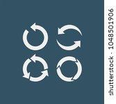 arrows flat vector icons set  | Shutterstock .eps vector #1048501906