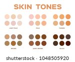 skin tone index color .... | Shutterstock .eps vector #1048505920