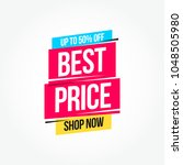 best price 50  off shop now... | Shutterstock .eps vector #1048505980