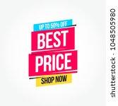 best price 50  off shop now...   Shutterstock .eps vector #1048505980