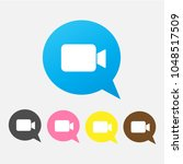 video chat icon in trendy flat...