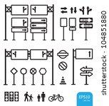 traffic sign icon vector | Shutterstock .eps vector #104851880