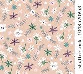 seamless floral pattern .... | Shutterstock .eps vector #1048520953