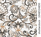 seamless paisley pattern in... | Shutterstock .eps vector #1048524850
