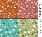 set of four floral seamless... | Shutterstock .eps vector #104853029