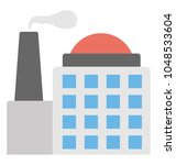 building with chimney  an... | Shutterstock .eps vector #1048533604
