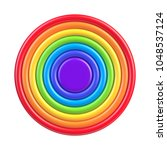 vector colorful rainbow circle...   Shutterstock .eps vector #1048537124