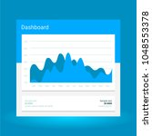 infographic dashboard template... | Shutterstock .eps vector #1048553378