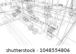 sketch industrial equipment.... | Shutterstock .eps vector #1048554806