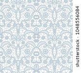 gentle lace seamless pattern...   Shutterstock .eps vector #1048556084