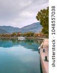 gocek marina in aegean coast  ...   Shutterstock . vector #1048557038