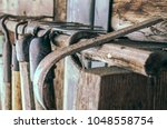 old village tools of the... | Shutterstock . vector #1048558754