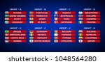 flags of football teams in... | Shutterstock .eps vector #1048564280