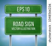 classic green traffic... | Shutterstock .eps vector #1048566236