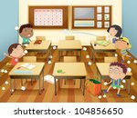 illustration of kids in a... | Shutterstock .eps vector #104856650