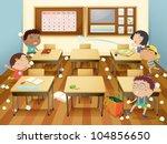 illustration of kids in a... | Shutterstock .eps vector #104856650