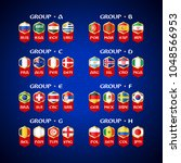 flags and abbreviations of... | Shutterstock .eps vector #1048566953