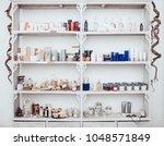 modern light spa salon interior.... | Shutterstock . vector #1048571849