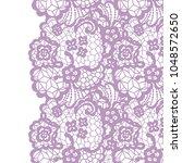 seamless lace border. vector... | Shutterstock .eps vector #1048572650