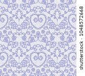 gentle lace seamless pattern... | Shutterstock .eps vector #1048572668