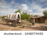 historial outpost of the wild... | Shutterstock . vector #1048574450