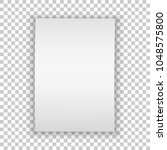 realistic blank paper. vector... | Shutterstock .eps vector #1048575800