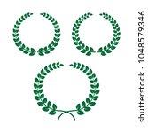 laurel wreath set vector.   Shutterstock .eps vector #1048579346