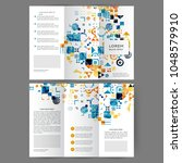 color tri fold business... | Shutterstock .eps vector #1048579910