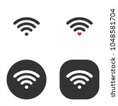 wireless and wifi icons.... | Shutterstock .eps vector #1048581704