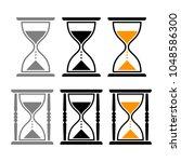 hourglass vector icons   Shutterstock .eps vector #1048586300