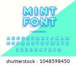 vector mint font 3d style... | Shutterstock .eps vector #1048598450