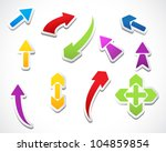 color template arrows stickers... | Shutterstock .eps vector #104859854