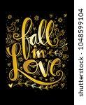 fall in love lettering....   Shutterstock .eps vector #1048599104