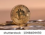 several aligned crypto currency ... | Shutterstock . vector #1048604450