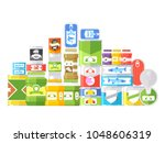 canned goods isolated on white...   Shutterstock .eps vector #1048606319